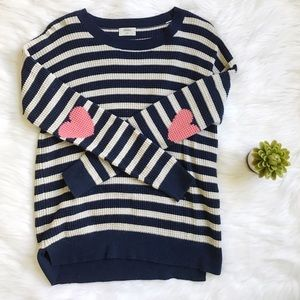 Madewell Tops - Madewell Striped Heart Elbow Thermal