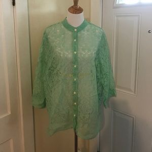 Alfred Dunner sheer lace top