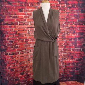 Elie Tahari Dresses & Skirts - Elie Tahari Beige Faux Wrap Dress Size 8