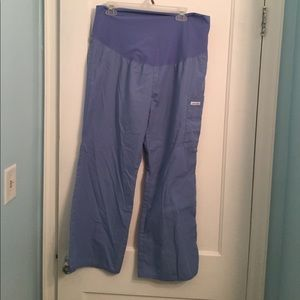 Cherokee Pants - Cherokee Ceil Blue Petite Maternity Scrub Pants