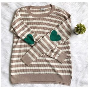Madewell Sweaters - Madewell Striped Heart Elbow Thermal