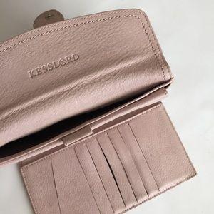 Kesslord Handbags - Kesslord blush pink leather trifold large wallet