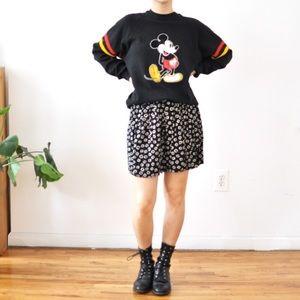 Geometric print flowy culotte shorts