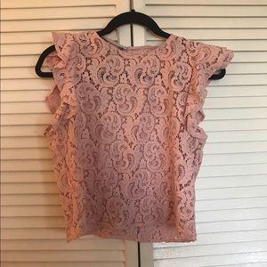 Zara contemporary lace top