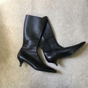 Prada Shoes - Prada kitten heel leather boots