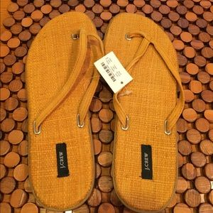 J. Crew Shoes - J Crew Leather Sandal NWT-size 8
