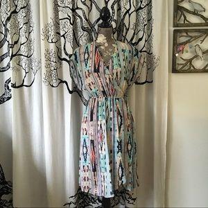 Tucker Lightweight Silk Wrap Dress SZ S/M