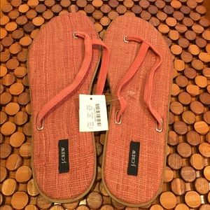J. Crew Shoes - J Crew Leather Sandal Flip Flop- NWT size 8