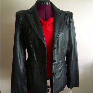 Neiman Marcus Jackets & Blazers - NWOT Neiman Marcus Exclusive Black Leather Jacket