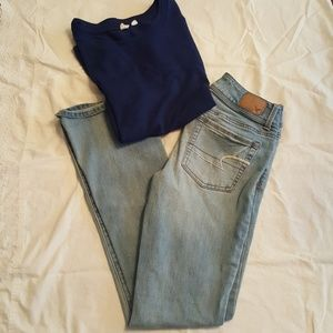 American Eagle Outfitters Short boot-cut jeans