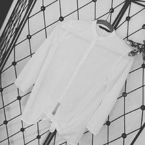 Zara NWOT White Blouse