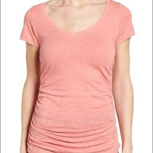 Caslon Tops - Caslon Ruched Tee | Size S