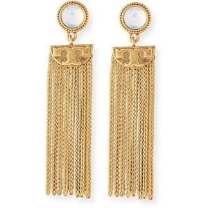Tory Burch Jewelry - Tory Burch Coin Tassel Earrings NWOT