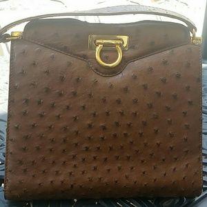 no name Handbags - Genuine ostrich shoulder bag. GORGEOUS