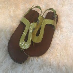 Green sandals