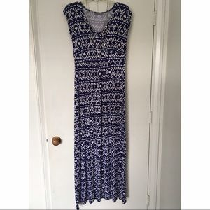 Loveappella Dresses & Skirts - ✨NWOT Loveapella Printed Blue Maxi Dress 💙