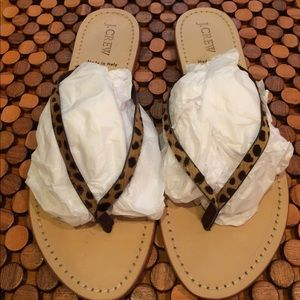 J. Crew Shoes - J Crew Leather Sandals - size 8