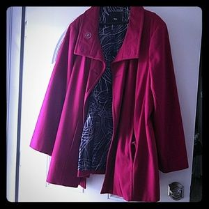 Massimo Alba Jackets & Blazers - Magenta A line Winter/Fall Coat