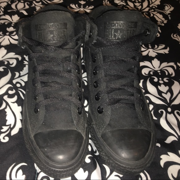 13d11a224bcd Converse Shoes - 🖤 All black thick high top Converse! 🖤