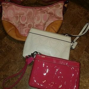 3 pack of Coach clutches