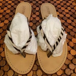 J. Crew Shoes - J Crew Italian Leather Sandal size 8
