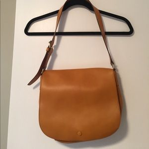Gap Leather Saddle Bag