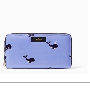 kate spade Handbags - NWT Kate Spade Daycation Blue Whale Wallet