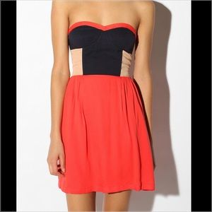 Urban Outfitters sparkle & fade colorblock dress