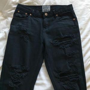 One Teaspoon Pants - One Teaspoon Distressed Jeans