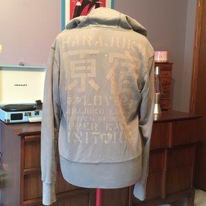 Harajuku Lovers Tops - Harajuku Lovers zip hoodie grey XL Gwen Stefani