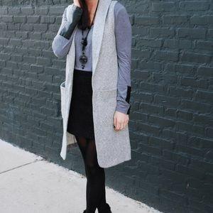 Topshop Jackets & Blazers - Top shop long gray vest.