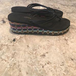 Juicy Couture Wedge Flip Flop
