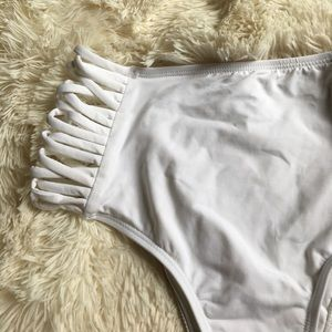 l*space Other - L*Space White High Waisted Bottoms