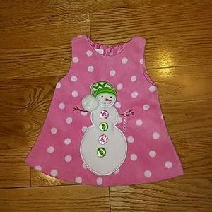 Bonnie Baby Other - Soft fleece snowman dress, size 3-6 months