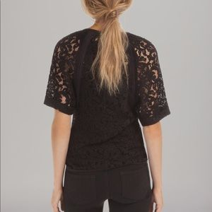 ❤️SALE❤️Maje Black Lace Top