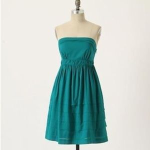 Maeve Jade/Teal Strapless Tea Dress