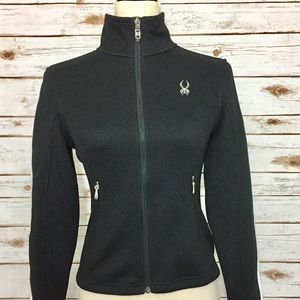 Spyder Tops - Spyder Black Endure Full Zip Stryk Fleece Jacket