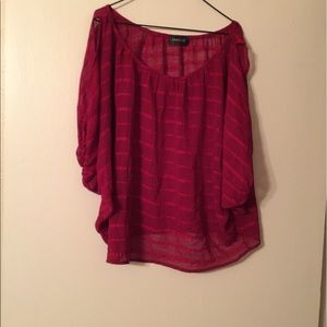 Poshmark Tops - Poshmark Burgundy Sheer Shirt...