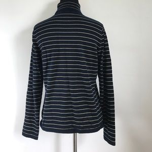 Ralph Lauren Sweaters - Ralph Lauren Navy Blue Gold Striped Turtleneck P/S