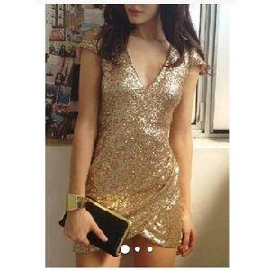 Dresses & Skirts - Gold sequin dress brand new