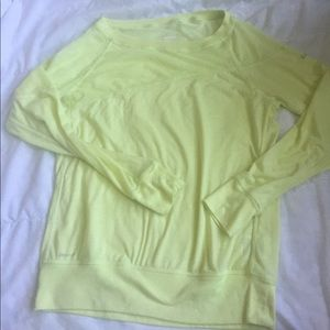 neon yellow nike dri fit top sz M