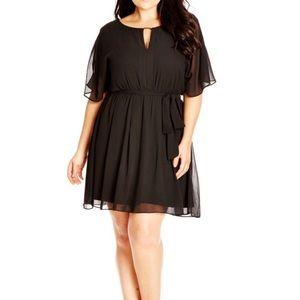 City Chic Dresses & Skirts - City chic black dress size L (18/20) PLUS SIZE