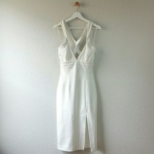 Nicholas Dresses & Skirts - NICHOLAS ponti diamond cutout bodycon dress white