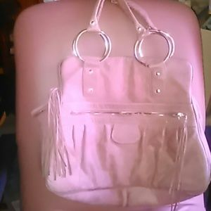Bulga Handbags - BULGA blush pink soft leather shoulder bag large