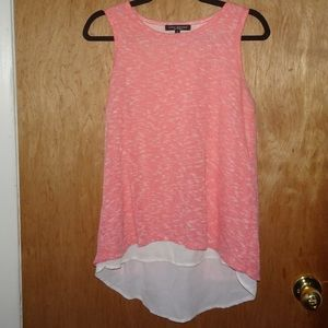 Lord & Taylor Tops - Pink and white double layered blouse. Size large