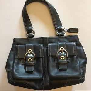 Coach Handbags - Coach Leather Soho Double Front Pocket Satchel
