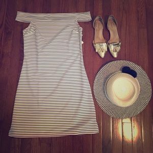 NWT off the shoulder striped dress!