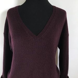 Vince Dresses - Vince Burgundy Dark Purple Wool Sweater Dress XS