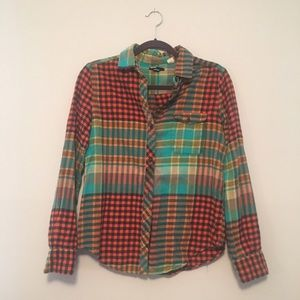 Urban Outfitters Multi-Colored Flannel