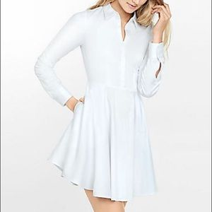 Express Dresses & Skirts - Express Shirt Dress - White